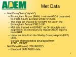 met data