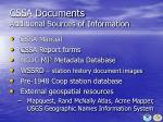 cssa documents additional sources of information