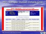 mi 3 sample station details grid