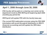 fes interim processes