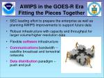 awips in the goes r era fitting the pieces together