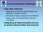 environmental data challenges