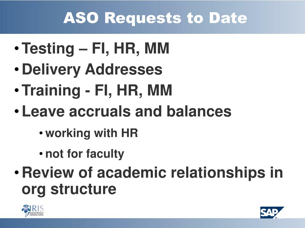 ASO Requests to Date