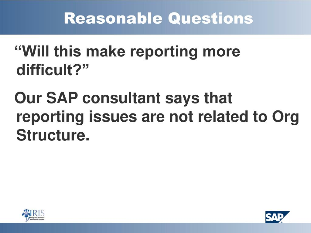 Reasonable Questions
