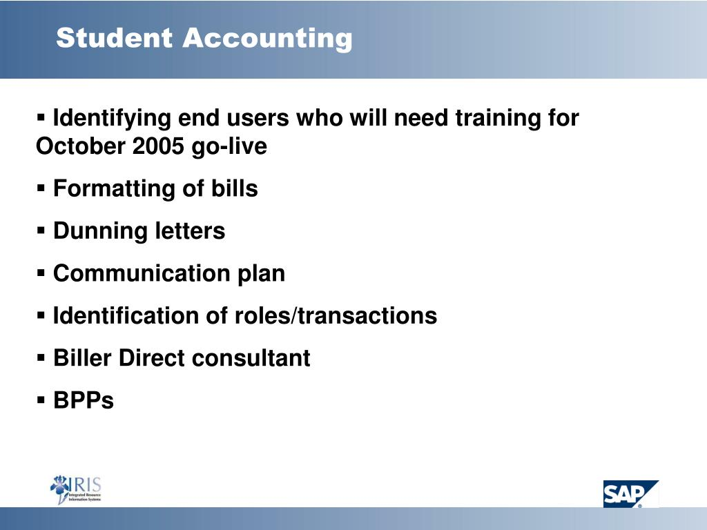 Student Accounting