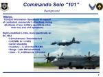 commando solo 101 background