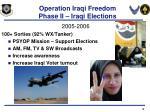 operation iraqi freedom phase ii iraqi elections