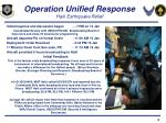 operation unified response haiti earthquake relief