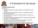 a framework for the issues17