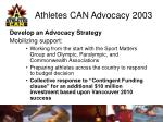 athletes can advocacy 200312