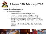 athletes can advocacy 200313