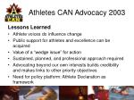 athletes can advocacy 200315