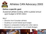athletes can advocacy 20036