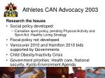 athletes can advocacy 20037