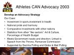 athletes can advocacy 20039