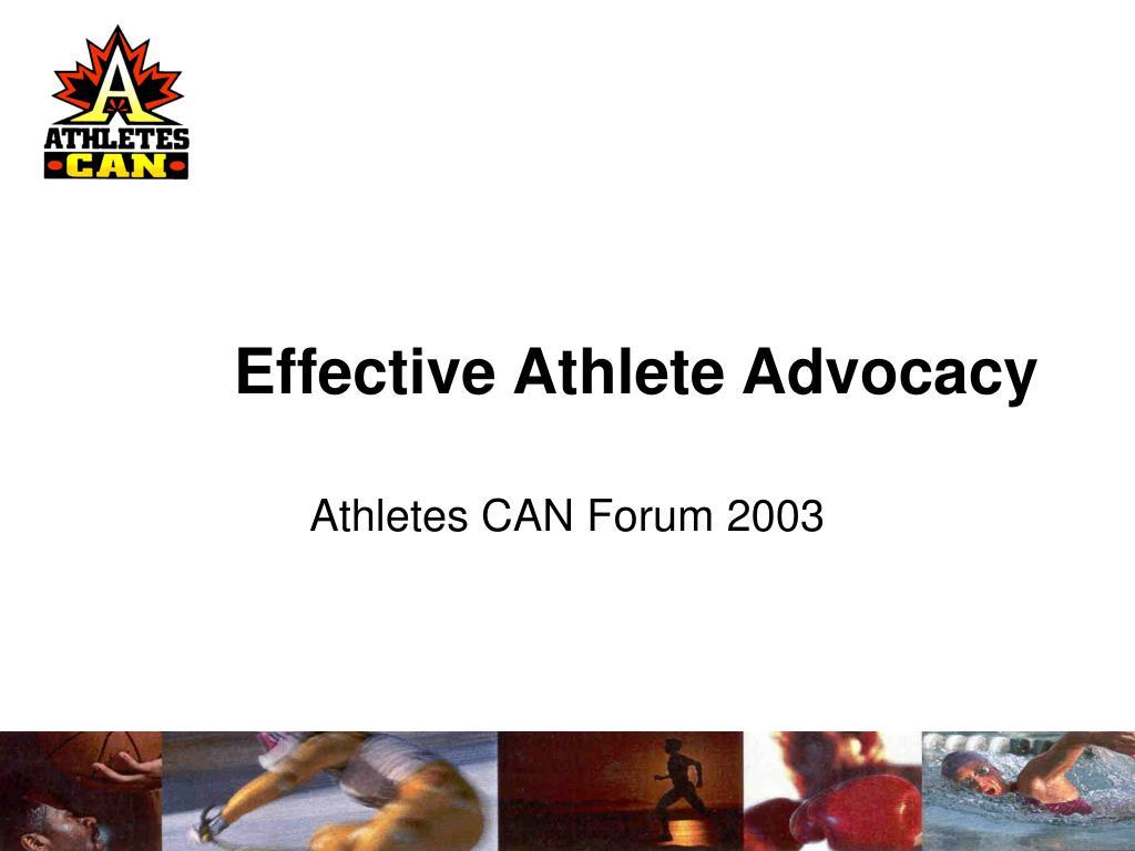 effective athlete advocacy l.