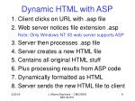dynamic html with asp
