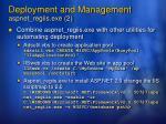 deployment and management aspnet regiis exe 2