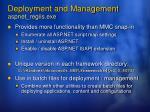 deployment and management aspnet regiis exe