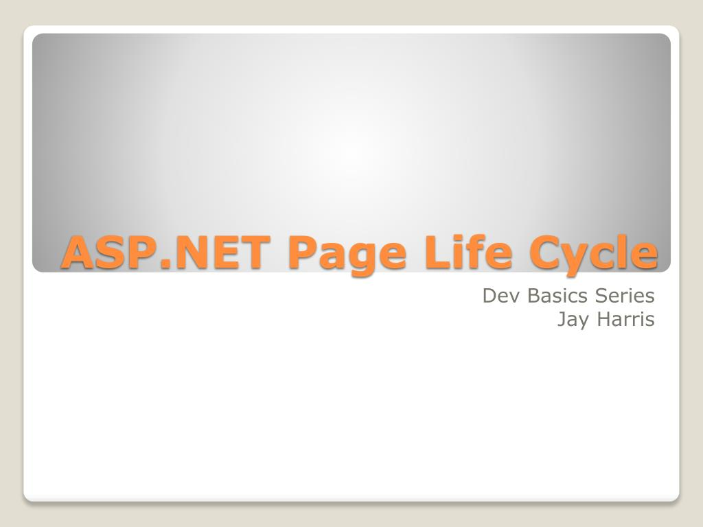 asp net page life cycle l.
