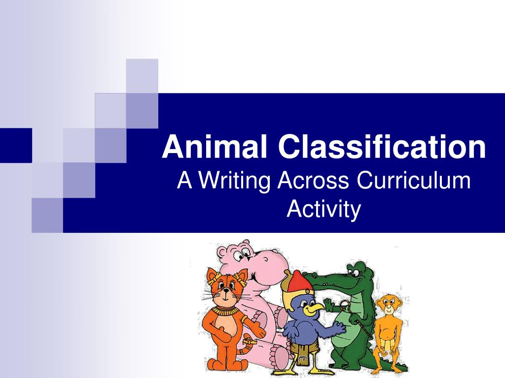 animal classification a writing across curriculum activity l.