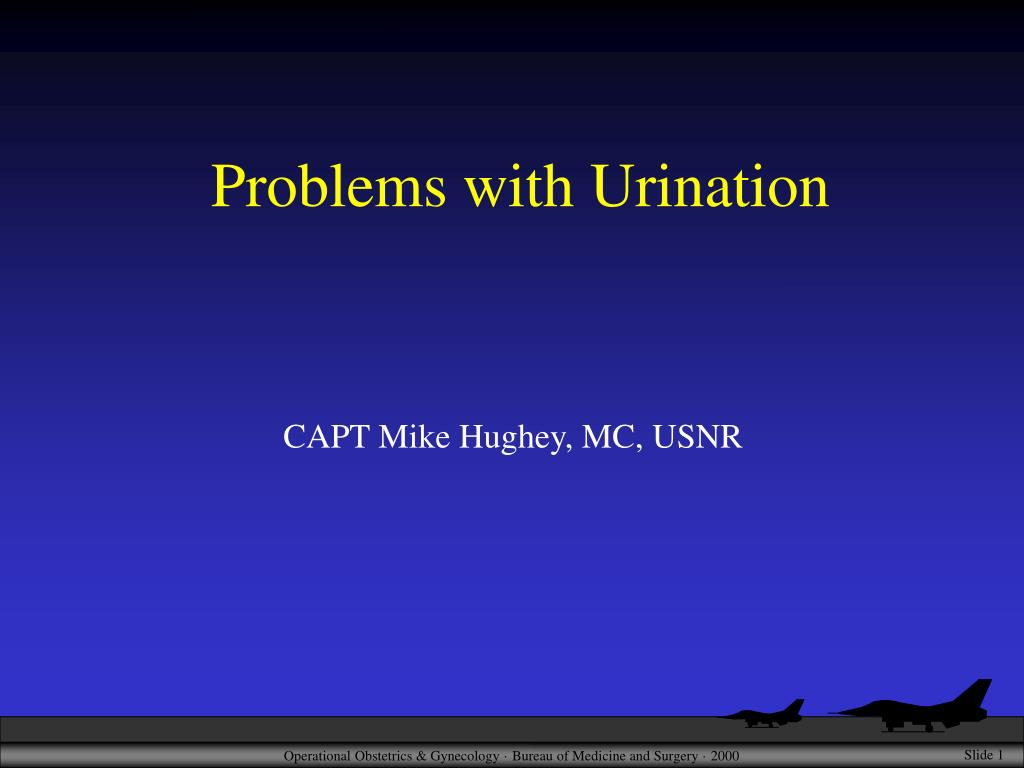 problems with urination