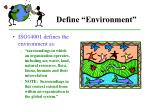 define environment