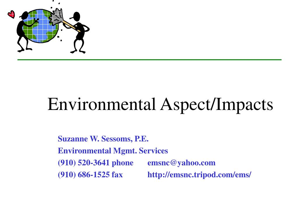 environmental aspect impacts l.