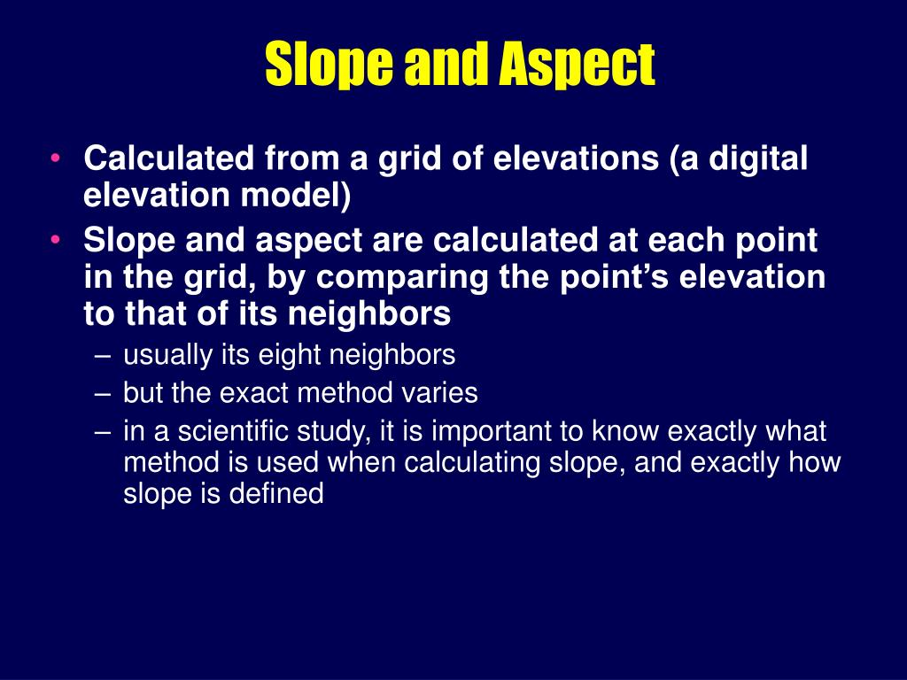 slope and aspect l.