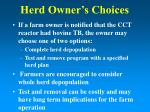 herd owner s choices