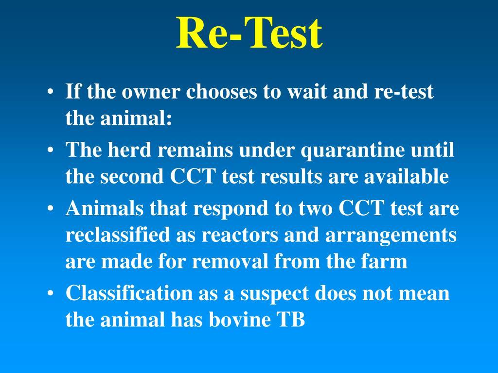Re-Test