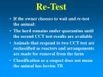 re test