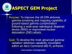 aspect gem project