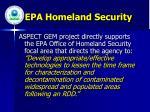 epa homeland security
