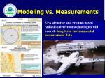 modeling vs measurements