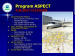 program aspect aircraft platform