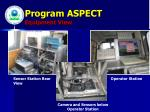 program aspect equipment view