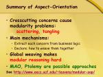 summary of aspect orientation1