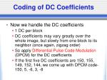 coding of dc coefficients