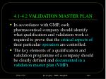 4 1 4 2 validation master plan