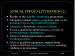 annual fpp quality review 2