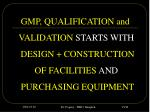 gmp qualification and
