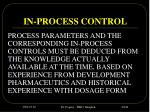 in process control