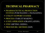 technical pharmacy