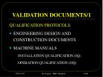validation documents 1