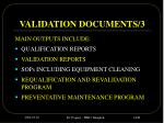 validation documents 3