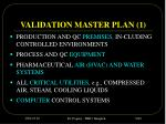validation master plan 1