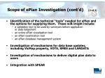 scope of eplan investigation cont d 2 of 2