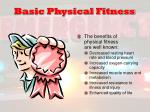 basic physical fitness
