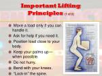important lifting principles 1 of 2